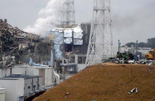 The damaged Fukushima Daiichi nuclear generating plant in Japan.