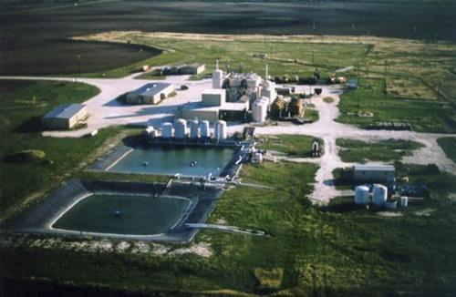 URI's planned in-situ recovery plant at Church Rock will be similar to its Kingsville Dome ISR plant in Texas, shown above.