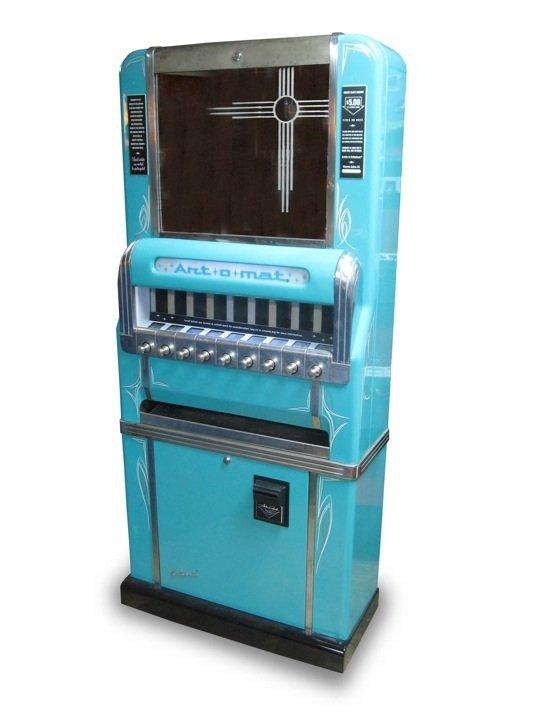 There are about 100 Art-o-Mat machines around the country that dispense local artists' work, and now Santa Fe has its first. The project converts obsolete cigarette machines into vending machines for tiny art projects.