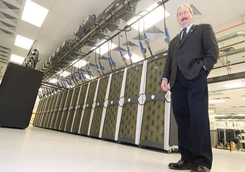 Tom Bowles at the supercomputer site in Rio Rancho