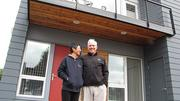 TrekHaus was first imagined by its residents — Trekkie Ella Wong and Randy Hayslip — who purchased land for their net-zero dream home in Sept. 2010. It was built by PDX Living LLC with Willamette Valley Remodeling. Both units are 1556 square feet of fully conditioned living space with a 125-square-foot semi-conditioned workshop. That translates into three bedrooms and two baths and a workshop in each.