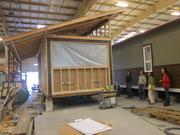 Margarette Leite and PSU students visited Blazer Industries facilities to investigate modular building strategies.