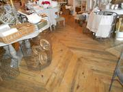 Blue Pine flooring at Sellwood boutique Marguerite.