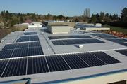 REC Solar and Kenyon Energy partnered on the solar projects for Beaverton schools. Elmonica Elementary's array is shown here.