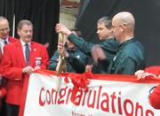 And, yes, a ribbon was cut.