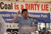 """Hao Xin, the Qiatang River Waterkeeper from China, said, """"China should not become the dumping ground for your coal industry."""""""