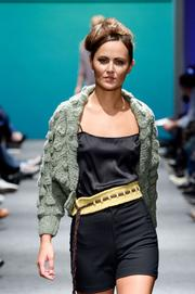 This cardigan and belt were from the 2011 collection that made a splash at Portland Fashion Week.