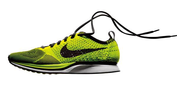 In addition to its eye-catching look, the Nike Flyknit, unveiled Tuesday, sports a greener manufacturing process.