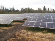 The solar panels for the Oregon State arrays were made in Hillsboro by SolarWorld.