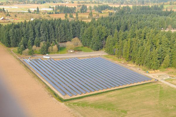 Portland General Electric is seeking bids for more renewable power such as the Baldock Solar Highway project along Interstate 5, which is open to visitors and provides 1.75 megawatts of power to the PGE system.