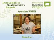 Operations winner: Keen Inc.  Read more about Keen and the other 2012 Innovation in Sustainability Awards honorees.