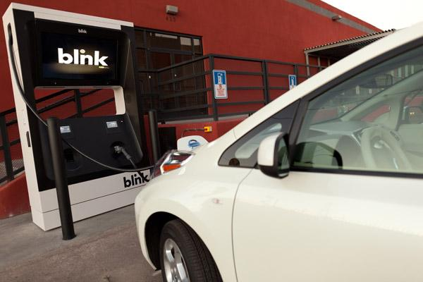 Ecotality, with its Blink chargers for electric vehicles, filed for bankruptcy protection on Tuesday.