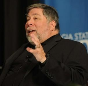 Steve Wozniak told a Georgia State University audience that five times, Hewlett-Packard turned down his request to make the Apple I.