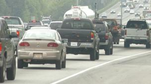 Traffic on Interstate 75 North in Atlanta, where voters rejected a tax hike to help pay for transit improvements.