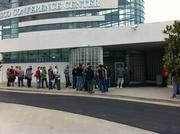 "The ""VIP"" line on a cool Saturday morning at JailbreakCon."