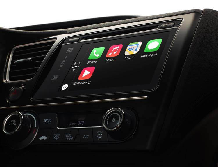 Apple's CarPlay service will bring iPhone integration to the automobile.