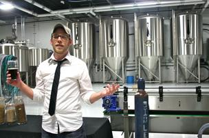 Jonathan Baker, one of the founders of Monday Night Brewing, gives a tour of the new facility in Westside Atlanta.