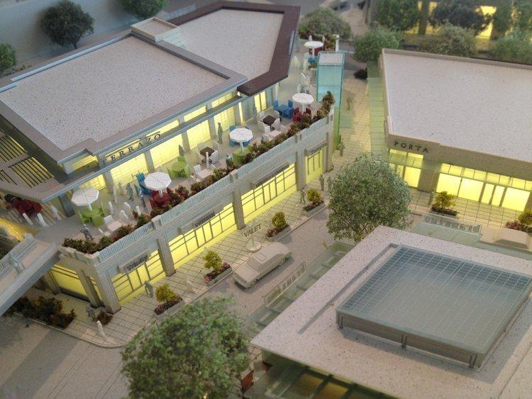 A model of Buckhead Atlanta gives insight into its future dining areas.