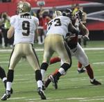 Falcons poach Saints; Airport egging of team's bus narrowed to one worker