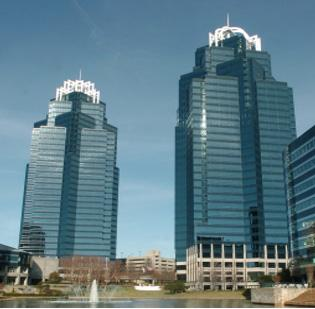 The King and Queen towers are Sandy Springs landmarks along the Atlanta Perimeter.