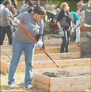 GREEN THUMBS: Turner employees