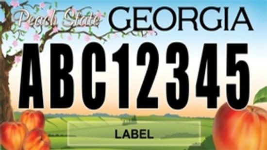 Georgia is cracking down on what can go on license plates.