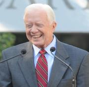 Jimmy Carter expressed his admiration for George W. Bush at the dedication.