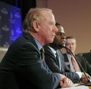 Former NFL quarterback Archie Manning attended the press conference to announce the Jan. 28 groundbreaking for the College Football Hall of Fame.
