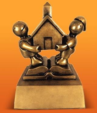 The trophy for the Broad Prize for Urban Education