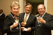 Mrs. Atlas, Marc Ducloz, owner of Epicurean Food and Beverages, and Michel Atlas, general manager at Great Signature Wines LLC.
