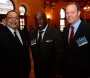 Lynnwood Bradley of BDI, from left; Jonathan Parris with US Trust Bank of America; and Scott Cook with BDI.