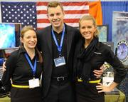 Cat Stirn, Joe Foor and Samantha Poole, all with Afterburner