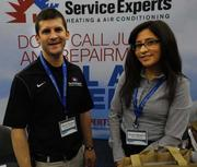 Brian Rainey and Annie Navarro with Service Experts.