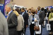 Attendees networked at the