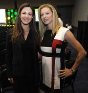 Business Growth Expo speakers Kat Cole (left), president of Cinnabon