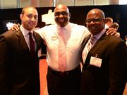 """Chick-fil-A's """"Home Office Backstage Tour"""": Michael Sterling, Rodney Bullard and Jerome Russell."""
