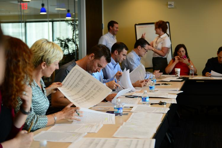 The 40 Under 40 alumni group hard at work earlier Thursday poring over nominations for the 2013 class of Atlanta's most accomplished up-and-comers.