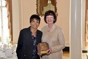 Deborah J. Poole, Georgia Justice Project, Retired, accepts the 2012 Atlanta Bar Association Liberty Bell Award .