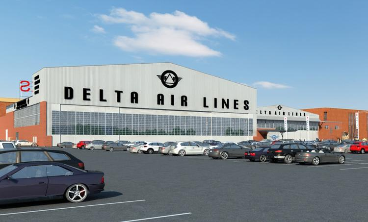 Atlanta-based Delta Air Lines plans to pour more than $6 million into its corporate museum, which displays airplanes and other items from the company's history. Among the upgrades, the circa-1940s hangars where the museum is housed will be fully restored. Here's an artist rendering of the new exterior for the Delta Flight Museum, as it will be renamed when it debuts in summer 2014.