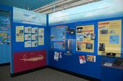 Delta's early history is highlighted through this walk-through exhibit of air service in the 1940s.