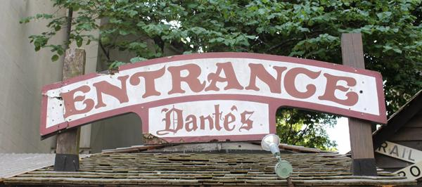 Entrance sign to Dante's Down the Hatch, an Atlanta institution for more than 40 years, 32 of them in Buckhead