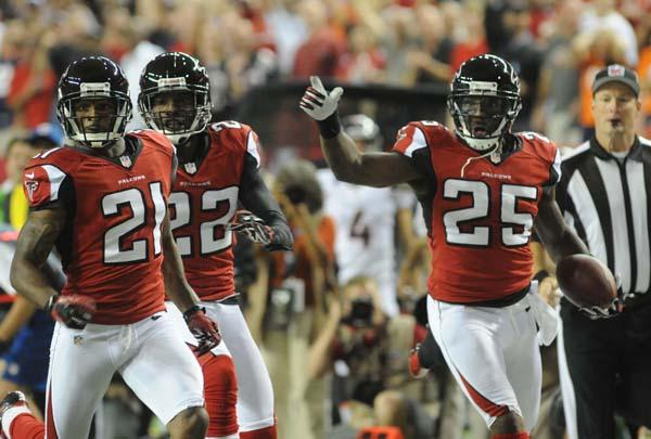 The Atlanta Falcons became the NFC South Division champs with Tampa Bay's 31-23 loss on Sunday to the Denver Broncos.
