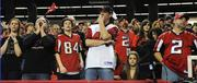Falcons fans in shock at the end of the game.
