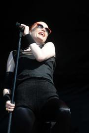 The charismatic Shirley Manson, lead singer for Garbage.