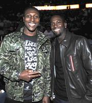 Atlanta Falcons wide receivers Roddy White and Harry Douglas.