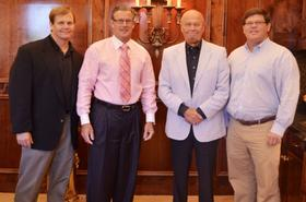 Left to right: Carl Hoover, Zaxbys CEO and co-founder, Zach McLeroy, Duane Hoover, Zaxbys executive vice president and co-founder Tony Townley.