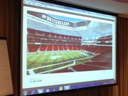 An interior rendering of the new stadium