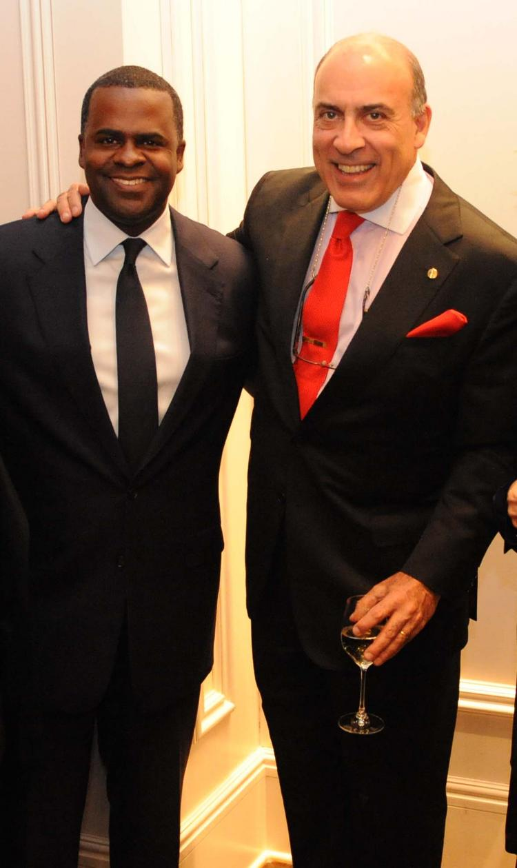 Mayor Kasim Reed and The Coca-Cola Co. Chairman and CEO Muhtar Kent.