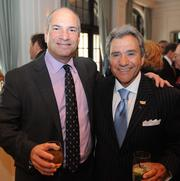 David Birnbrey, chairman and co-CEO of The Shopping Center Group, left; and entrepreneur and philanthropist Michael Coles.