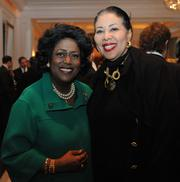 Ingrid Saunders Jones of The Coca-Cola Co., left; and Carolyn M. Young of GoodWorks International LLC.